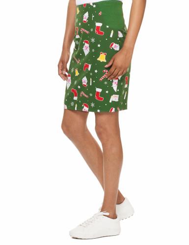 Mrs. Santaboss Damenkostüm Opposuits™ grün-bunt-1
