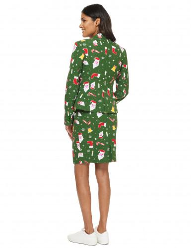 Mrs. Santaboss Damenkostüm Opposuits™ grün-bunt-2