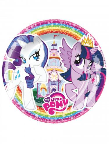 8 kleine Pappteller My Little Pony™ 18 cm