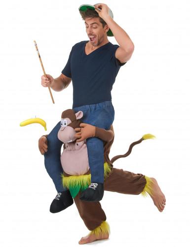 Kostüm Mensch auf dem Rücken eines Affen