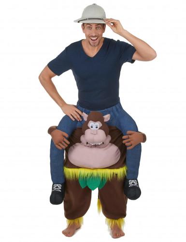 Kostüm Mensch auf dem Rücken eines Affen-1