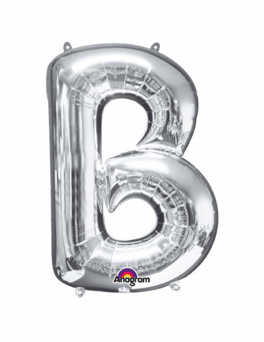 Riesen Folienballon Buchstabe B silber 58 x 86 cm