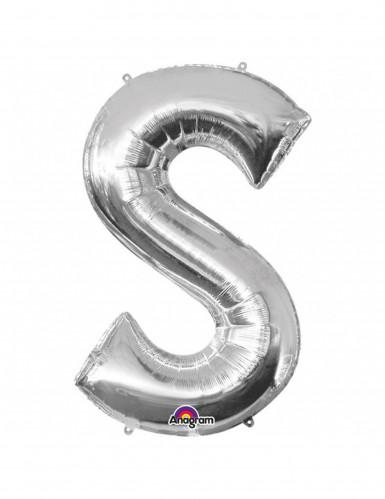 Riesiger Aluminium-Ballon S silber 53 x 88 cm