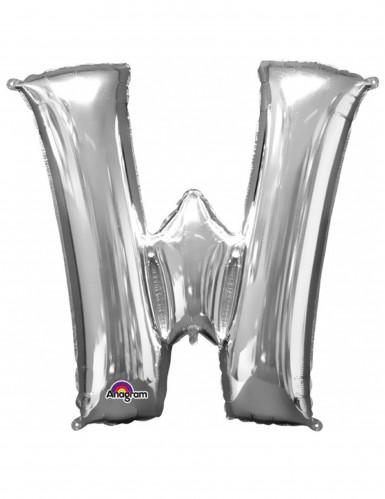 Riesiger Aluminium-Ballon W silber 71 x 83 cm