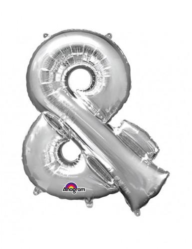 Riesen Folienballon & silber 76 x 96 cm