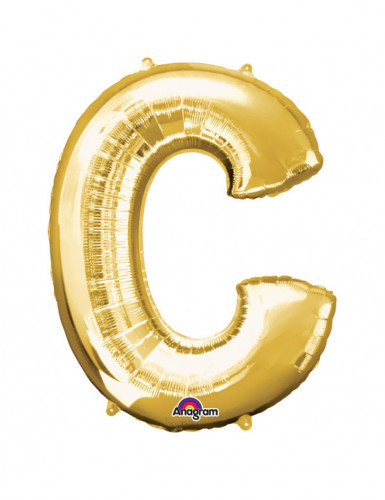 Riesiger Aluminium-Ballon C gold 63 x 81 cm