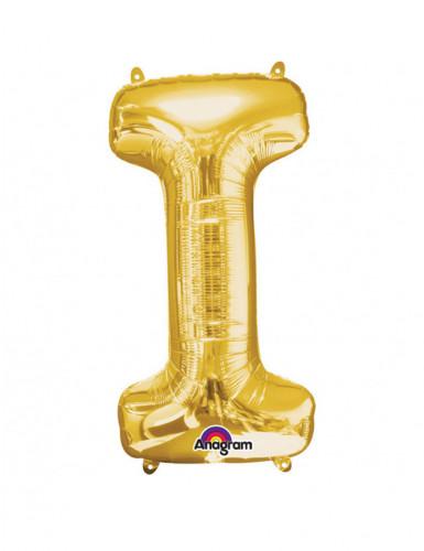 Folienballon Buchstabe I gold 45   x 81 cm