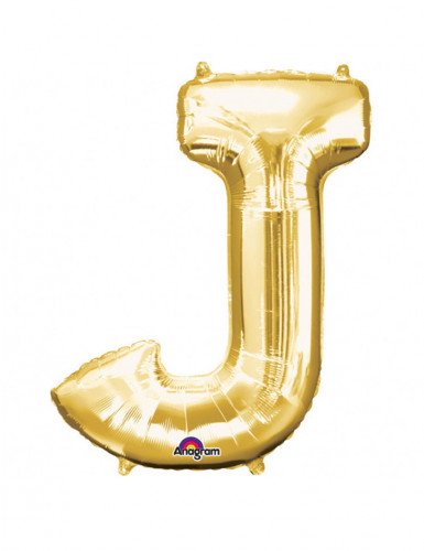 Folienballon Buchstabe J gold 58x 83 cm
