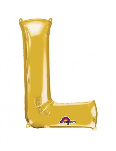 Folienballon Buchstabe L gold 58  x 81 cm
