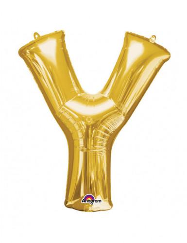 Riesiger Aluminium-Ballon Y gold 76 x 86 cm