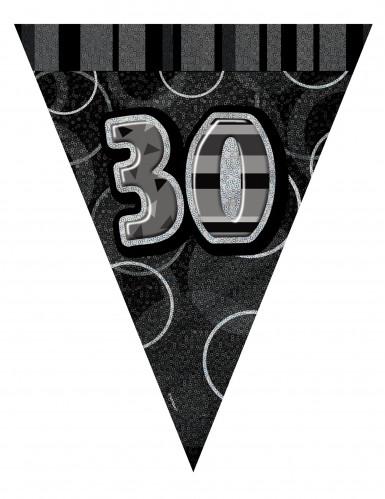 Wimpelgirlande 30 Jahre grau 2,74cm