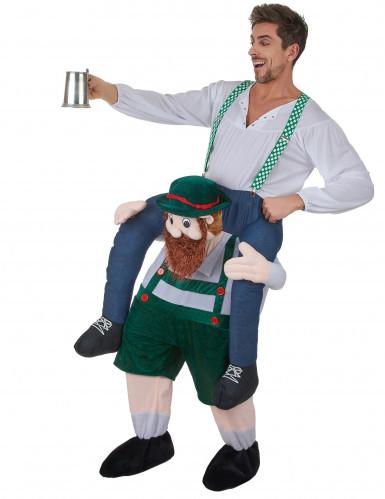Kostüm Mann auf dem Rücken eines Bayern-1