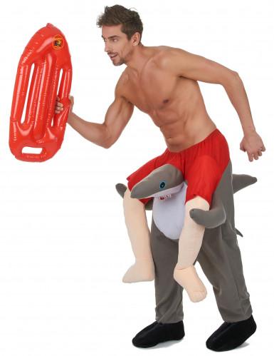 Kostüm Mann auf Haifisch