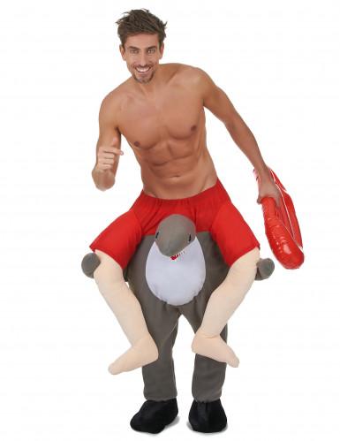 Kostüm Mann auf Haifisch-1