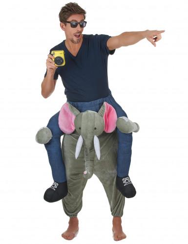 Kostüm Mann auf Elefant für Erwachsene