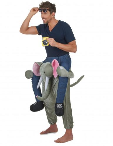 Kostüm Mann auf Elefant für Erwachsene-1
