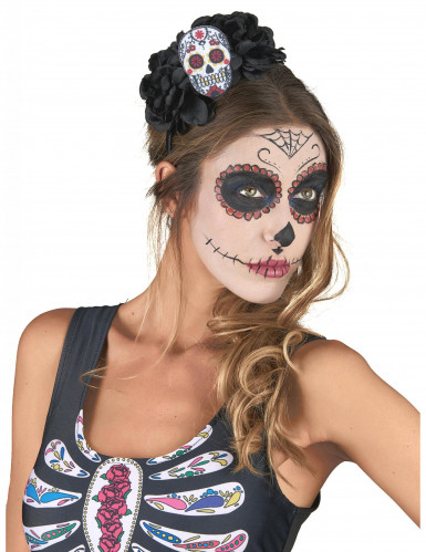 Haarreif Totenschädel Dia De Los Muertos