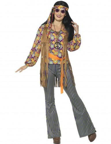 Hippie-Sängerin-Kostüm für Damen 60er-Jahre-2