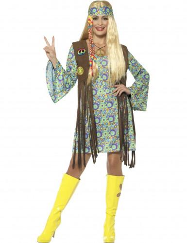 Tolles 60er-Jahre Hippie Kostüm für Frauen