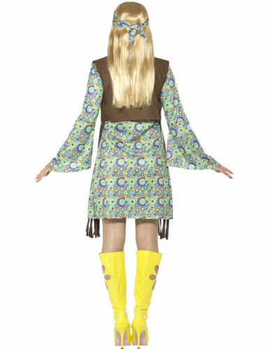 Tolles 60er-Jahre Hippie Kostüm für Frauen-2
