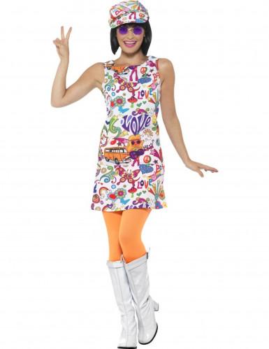 Cooles 60er-Jahre Hippie Kostüm für Damen