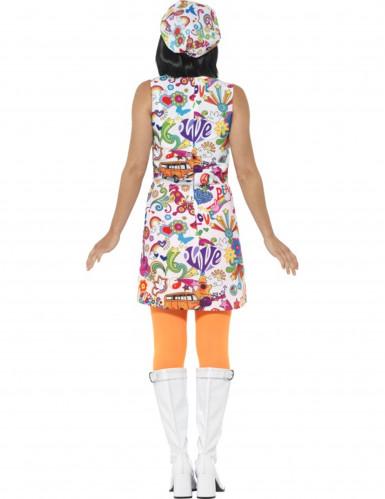 Cooles 60er-Jahre Hippie Kostüm für Damen-1