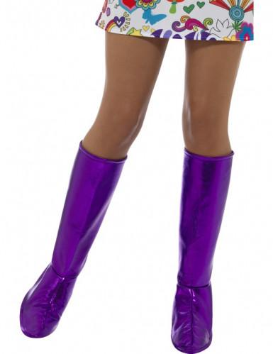 Stiefelstulpen 70er Jahre für Damen lila