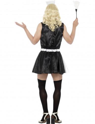 Dienstmädchenverkleidung für Damen schwarz und weiß-2