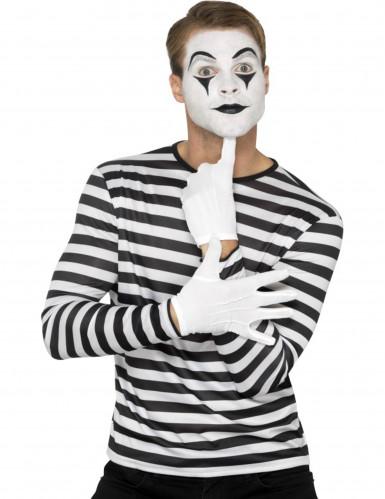 T-Shirt für Erwachsene mit schwarzen und weißen Streifen-1