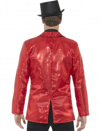 Disco-Jacke für Herren mit Pailletten in rot-2