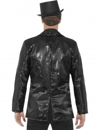 Disco-Jacke für Herren mit Pailletten in schwarz-2
