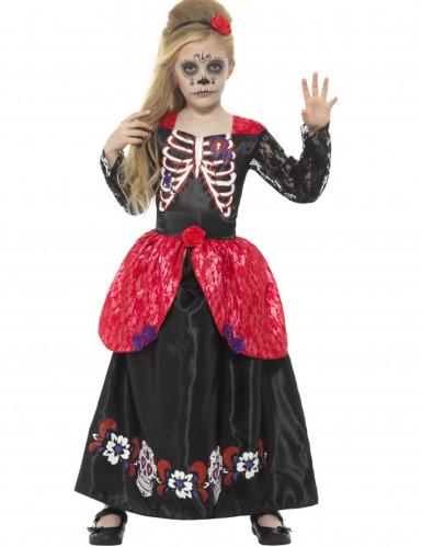 Prinzessinnen Kostüm Dia de los Muertos für Kinder
