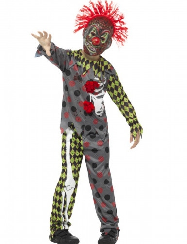 Halloween Clown-Skelett-Kostüm für Kinder