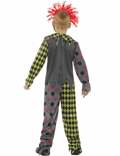 Halloween Clown-Skelett-Kostüm für Kinder-1