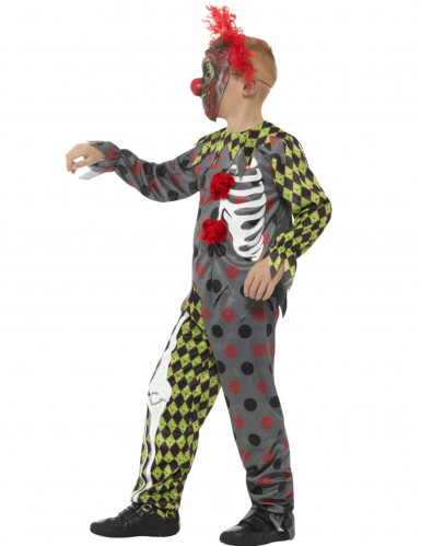Halloween Clown-Skelett-Kostüm für Kinder-2