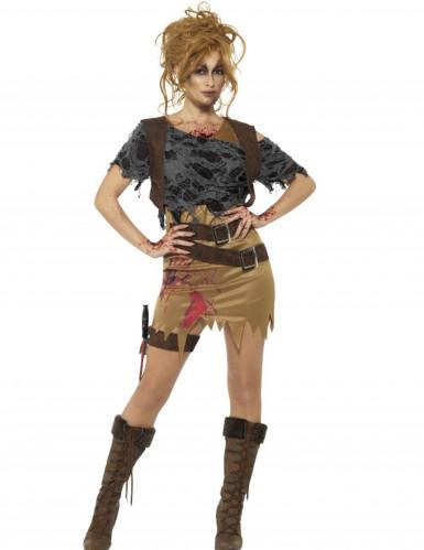 Erotisches Zombie-Jägerin-Kostüm für Damen