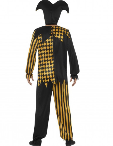 Teuflisches Clowskostüm für Herren gelb-schwarz-1
