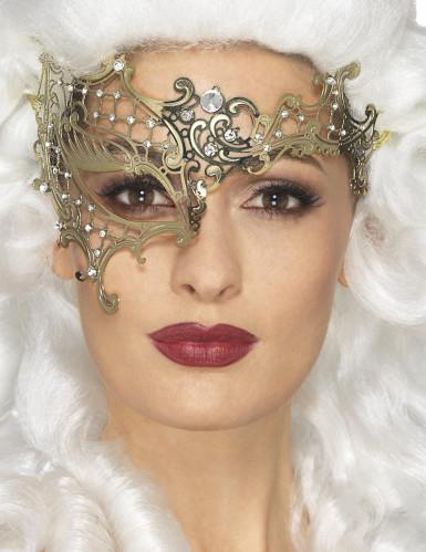 Metallische Maske für Damen festliches-Zubehör gold
