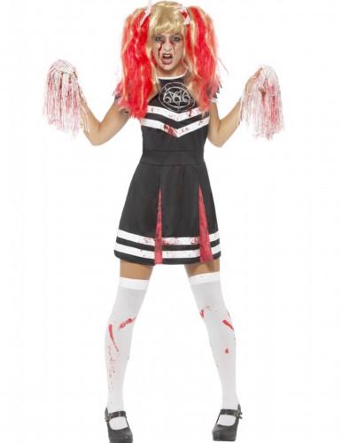 Satanistisches Cheerleaderkostüm für Damen Halloween