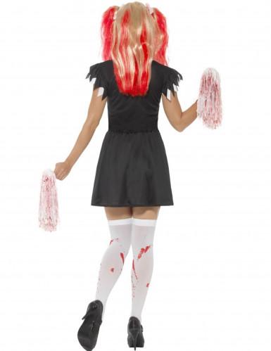 Satanistisches Cheerleaderkostüm für Damen Halloween-1