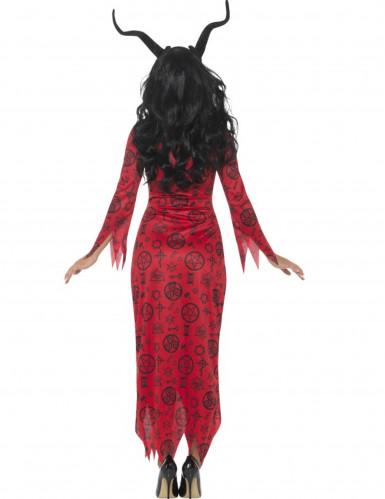 Teuflische Dämonin Damen-Kostüm rot-schwarz-1