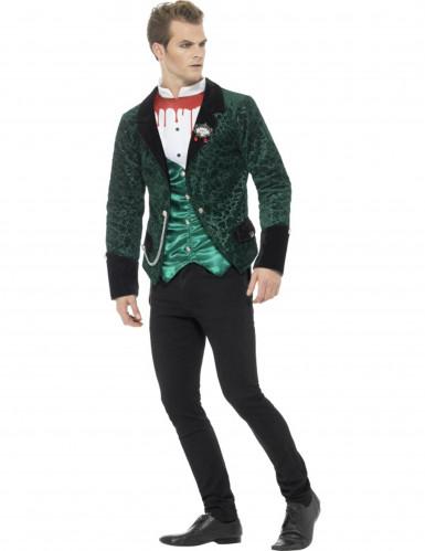 Vampirkostüm in Grün für Herren-1