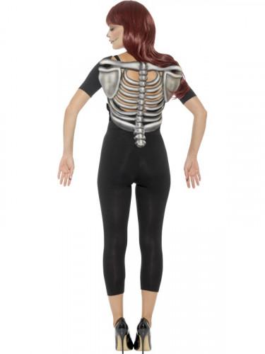 Skelett Thorax Halloween-Accessoire grau-1