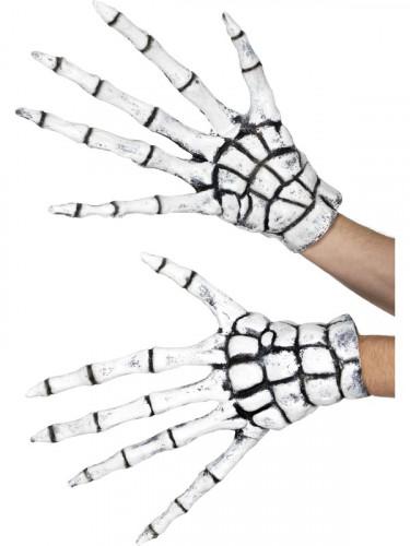 Latex Skelett - Handschuhe für Erwachsene