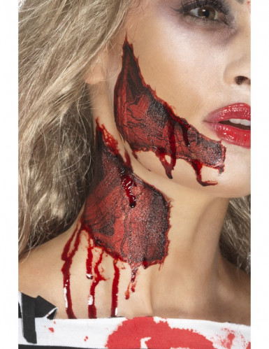halloween tattoo abgerissene haut f r erwachsene schminke. Black Bedroom Furniture Sets. Home Design Ideas