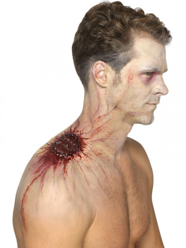 Latex Prothese infiziert Biss Erwachsene Halloween-1