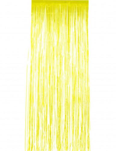Gelber Vorhang mit Glitzer