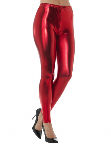 Metallic rote Leggings Erwachsene
