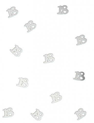 Tischkonfetti silber 18 Jahre