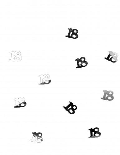 Tischkonfetti silber 18 Jahre -1